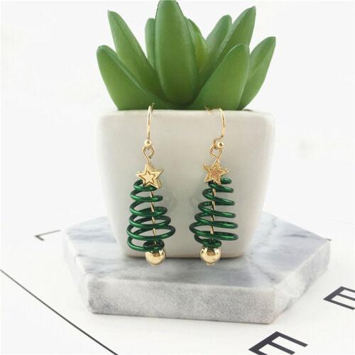 Green Ear Studs Christmas Tree Earring Cheap Beautiful Fresh Spiral Star Earring