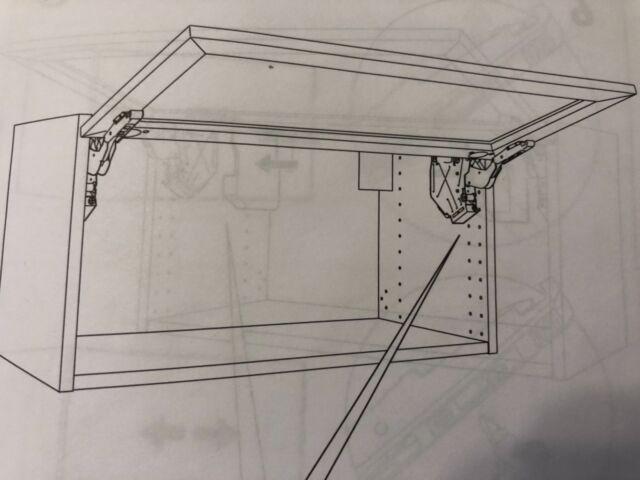 Ordinaire New Ikea Utrusta 102.657.35 Horizontal Door Cabinet Hinge Large Black Pair  X 2