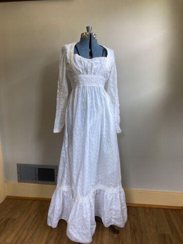 Vintage 70s White Lace Gunne Sax Prairie Cottagec… - image 1