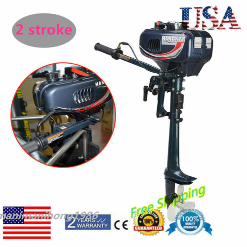 HANGKAI 2 Stroke Outboard Motor 2500W(3.5HP) Fishing Boat Engine with CDI System