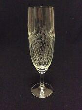 Cristal de Bohème H 17,2  flûte à champagne soufflé gravé à la roue Bohème