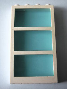 LEGO 6160c03 @@ Window 1 x 4 x 6 Frame 3 Panes Tr-Light Blue Glas 4555 6571 7894