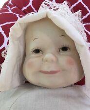 VERSATILE RARE UNUSUAL Vintage Porcelain THREE 3 FACES HEADS BABY DOLL