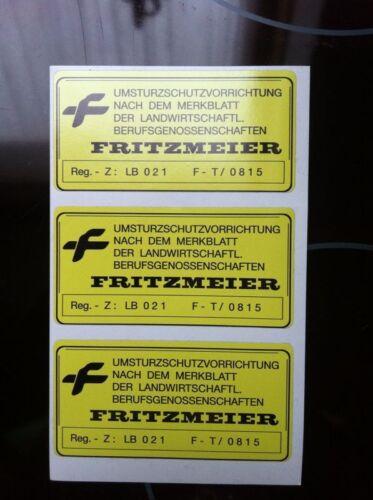 Fritzmeier Aufkleber Traktor Schlepper Fritz Meier Überrollbügel