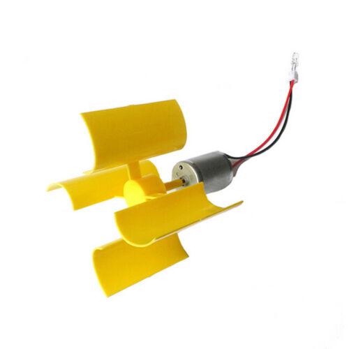 DIY Mini Dc Motor Vertical Micro Wind Turbines Blades Generator Set Kit CYN