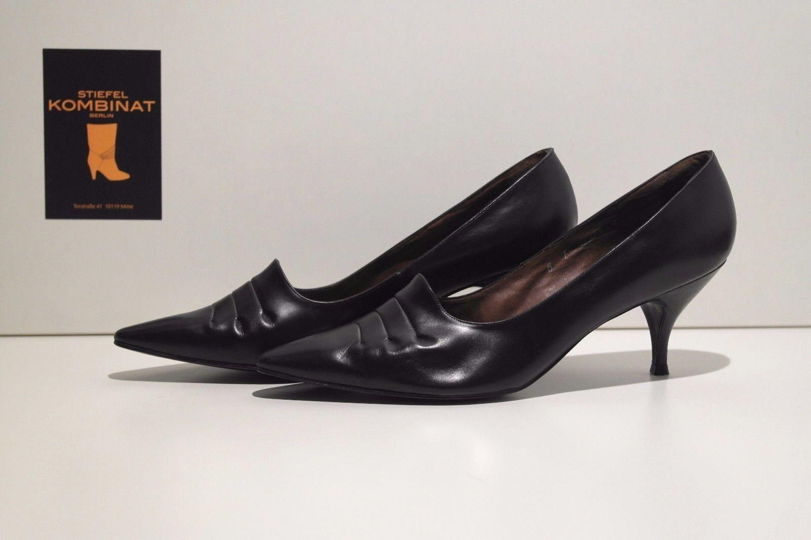 NOS Rheinberger Meisterschuhe Damen Pumps Schuhe TRUE VINTAGE Porby UK 5 schwarz