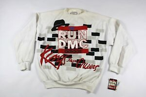 7ba87185e9b67 Vintage 80s New Adidas Large RUN DMC Spell Out Kings from Queens ...