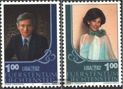 kompl.ausg. Gestempelt 1982 Briefmarkenausstellung Verhindern Dass Haare Vergrau Werden Und Helfen Den Teint Zu Erhalten Liechtenstein 797-798