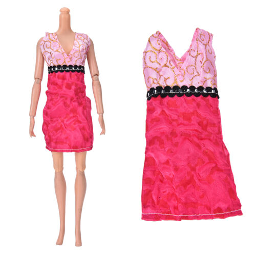 """Fashion Beautiful Handmade Party Clothes Dress for 9/""""  Doll Mini  Gn"""