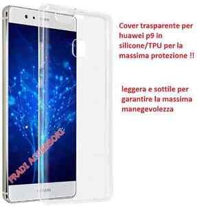 Cover case custodia huawei P9 TPU ultra slim silicone trasparente morbida