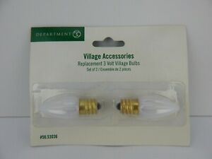 Details About Dept 56 Village Small 3 Volt Light Bulb 53036 New In Packaging D56