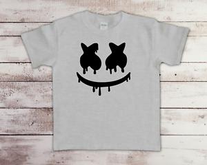 Marshmello DJ Face Funny Children's Kids T-Shirt Tee Birthday Top Gaming Gift