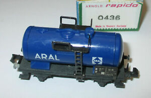 Arnold-0436-Wagon-Citernes-2-achsig-034-Aral-034-gt-Top-Emballage-D-039-Origine-Rarete