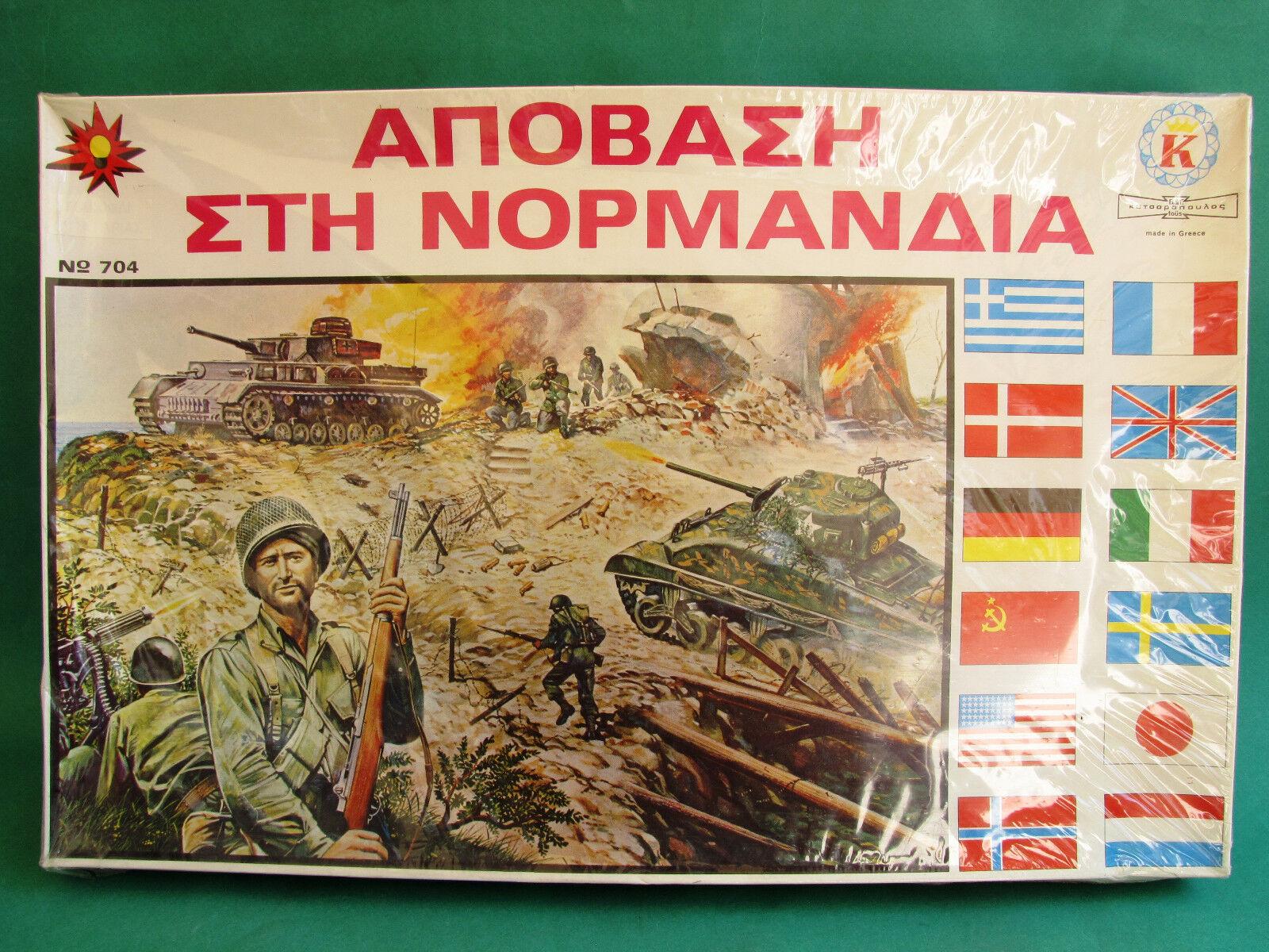 Nuevo Juego de Mesa Rara Vintage griego batalla de Normandía Menta en caja sellada katsaropoulos Segunda Guerra Mundial