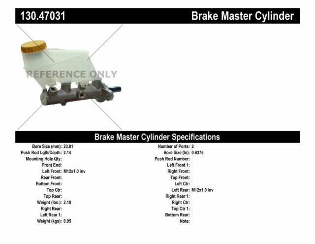 Brake System Automotive Centric 130.65120 Brake Master Cylinder ...