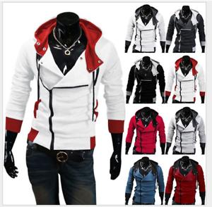 Men/'s Coat Costume Cosplay For Assassins Jacket Cool Stylish Coat Hoodie