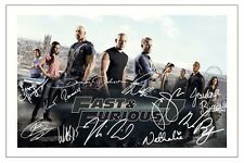FAST AND FURIOUS 7 CAST X 11 SIGNED PHOTO PRINT AUTOGRAPH POSTER PAUL WALKER