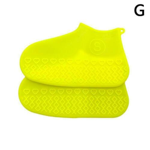 1*Silicone Overshoes Rain Waterproof Shoe Covers Boot Protector Cover Recyc J3T8