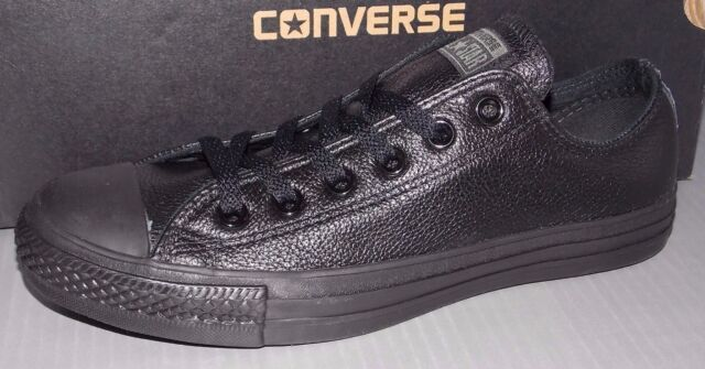 3544594286c60f Converse 1t865 Chuck Taylor All Star Leather Low Black 7 M / 9 W for ...