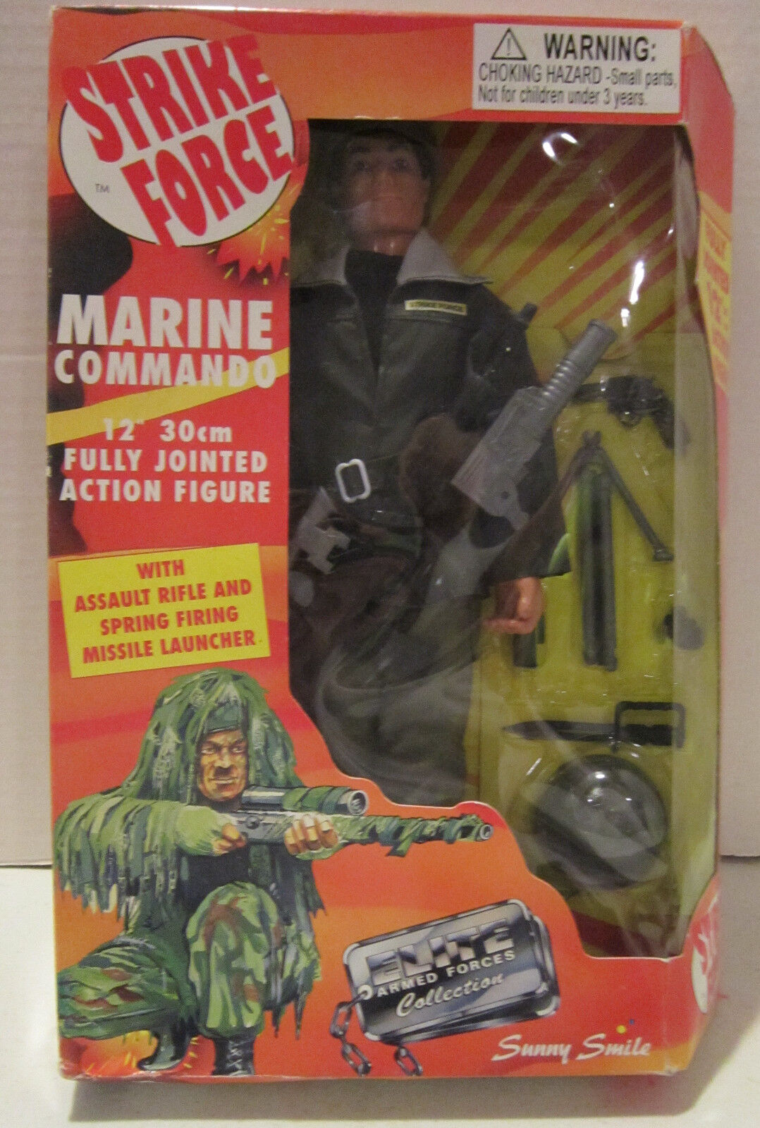 Strike Force Marine Commando 12   30cm Fully Jointed Action Figure - New