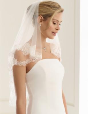Bridal Veil Con Bordo In Pizzo, 32/34 Pollici-mostra Il Titolo Originale Luminoso A Colori