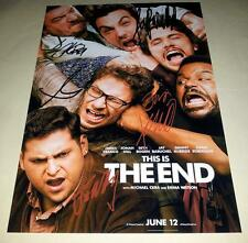 "THIS IS THE END CAST X5 PP SIGNED 12""X8"" POSTER SETH ROGAN JAMES FRANCO"