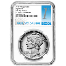 2018-w Proof American Silver Eagle NGC Pf70uc FDI First Label