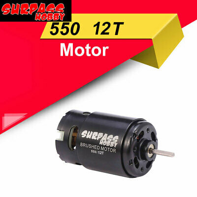 Surpasser Hobby 550 12 T Brossé Moteur pour 1//10 HSP WLtoys Traxxas D90 D110 SCX10