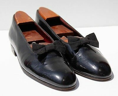 Christian Dior 9 N Formal Black Patent Leather Slip-On Mary Jane Shoes - Italy -