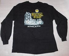 Holiday Festival of Light Ashland Oregon Black Long-Sleeve Shirt Winter Large