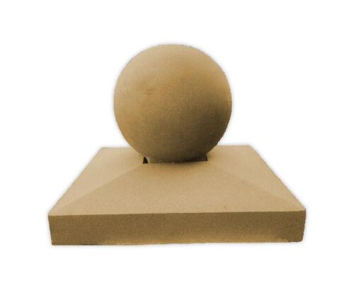 3 Sizes Portland//Buff Cast Stone Apex Pier Cap w// Sphere Finial