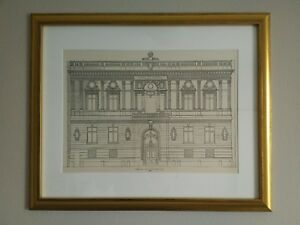 Century-Club-New-York-City-1889-Framed-Architecture-Lithograph