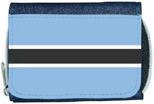 Amical Botswana Flag Denim Portefeuille Forte RéSistance à La Chaleur Et à L'Usure