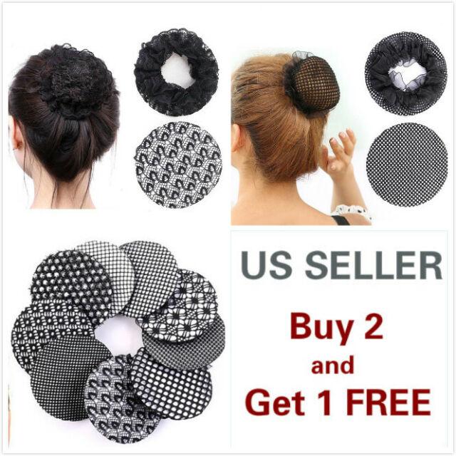 5 Elastic Band Crochet Hair Bun Cover Snood Hair Net Ballet Dance Color Choice