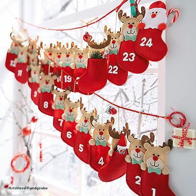 Weihnachtsmann Adventskalender Stoff Weihnachtskalender Advent Adventszeit