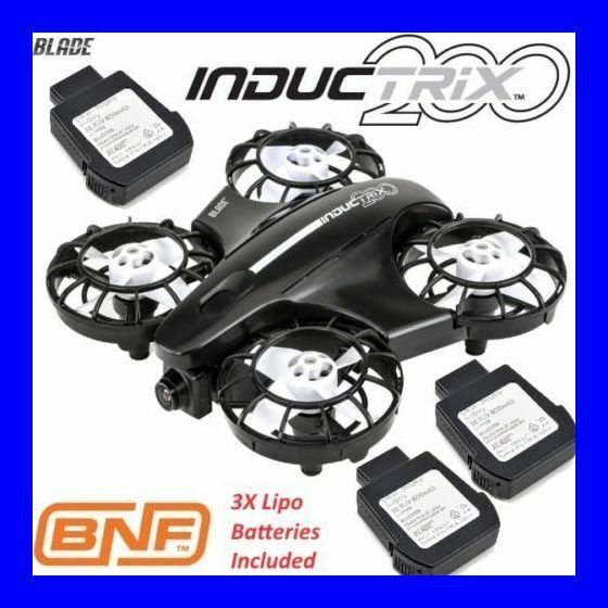 Klinge inductrix fpv 200 bnf binden und fliegen - quad - quadcopter + 3x batterie