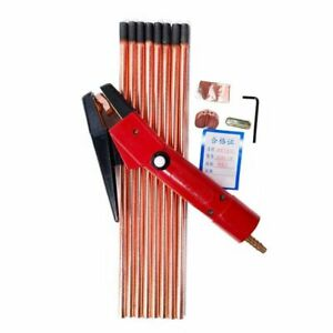 Air Carbon Arc Gouging Rods Copper Round Graphite Electrode Rod For DC 5pcs