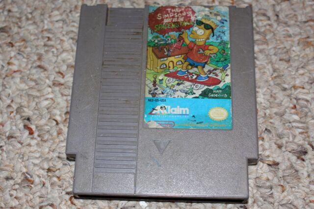 Simpsons: Bart Vs Space Mutants (Nintendo Entertainment System NES) Cart FAIR