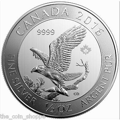 2016 Bald Eagle 1/2 oz Silver Coin  - Canada .9999 Silver RCM .5 oz *RARE*