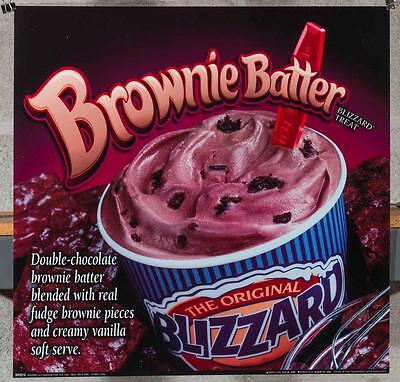 Dairy Queen Promotional Poster For Backlit Menu Sign Dream Pie Blizzard dq2