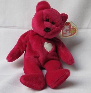46c4aee076c Image is loading Very-rare-Beanie-baby-soft-toy-Valentina-bear-
