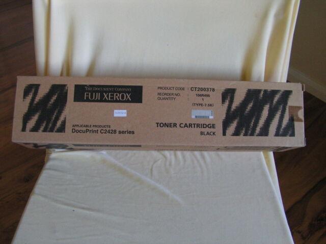 GENUINE FUJI XEROX DOCUPRINT C2428 BLACK TONER CARTRIDGE TYPE-7.5K CT200378