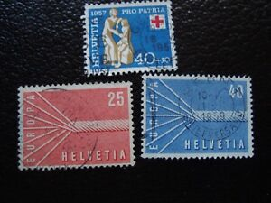 Switzerland-Stamp-Yvert-and-Tellier-N-594-A-596-Obl-A1-Stamp-Switzerland-A