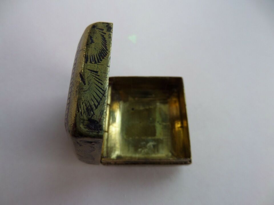 Smykkeskrin, andet materiale, Messing Skrin