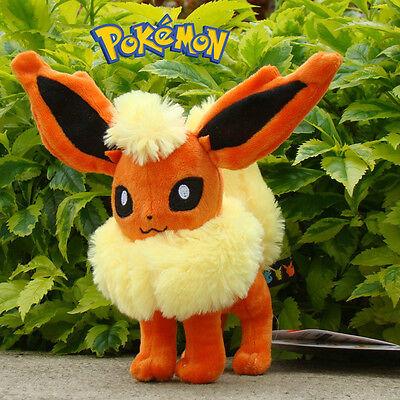 "Nintendo Pokemon Plush Toy Flareon 6.5"" Cuddly Stuffed Animal Doll Rare"