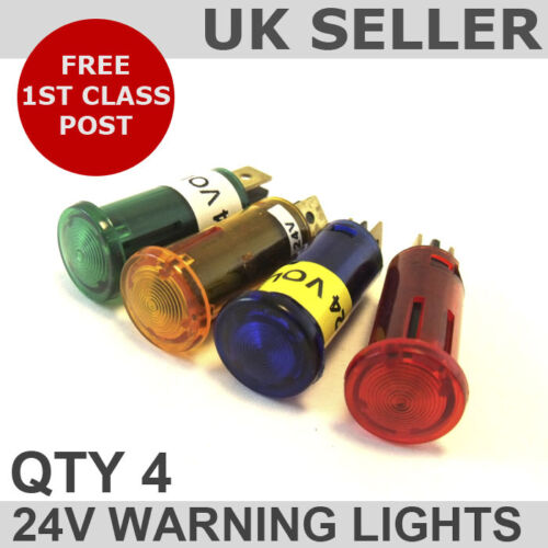 Dash Warning//Indicator Lights 24v Oil//Water *QTY 4*