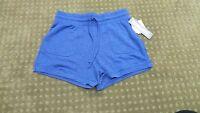 32 Degrees Cool Women's Super Soft Drawstring Fleece Shorts Blue Xs X Small