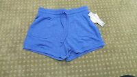 32 Degrees Cool Women's Super Soft Drawstring Fleece Shorts Blue Large