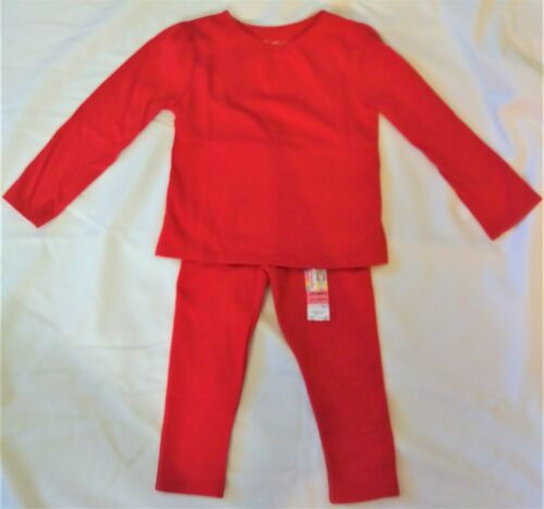GARANIMALS TODDLER GIRL/'S RED SHIRT BLOUSE /& LEGGINGS 2 PC SET NEW WITH TAGS