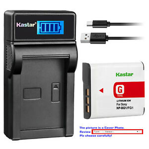 Kastar-Battery-LCD-Charger-for-Sony-NP-BG1-NPBG1-amp-Cyber-shot-DSC-W100-Camera